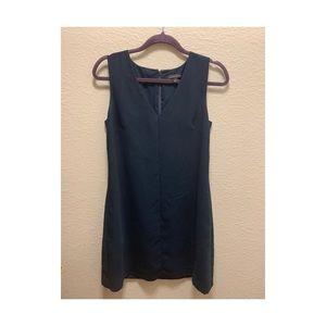 Navy blue a line mini dress